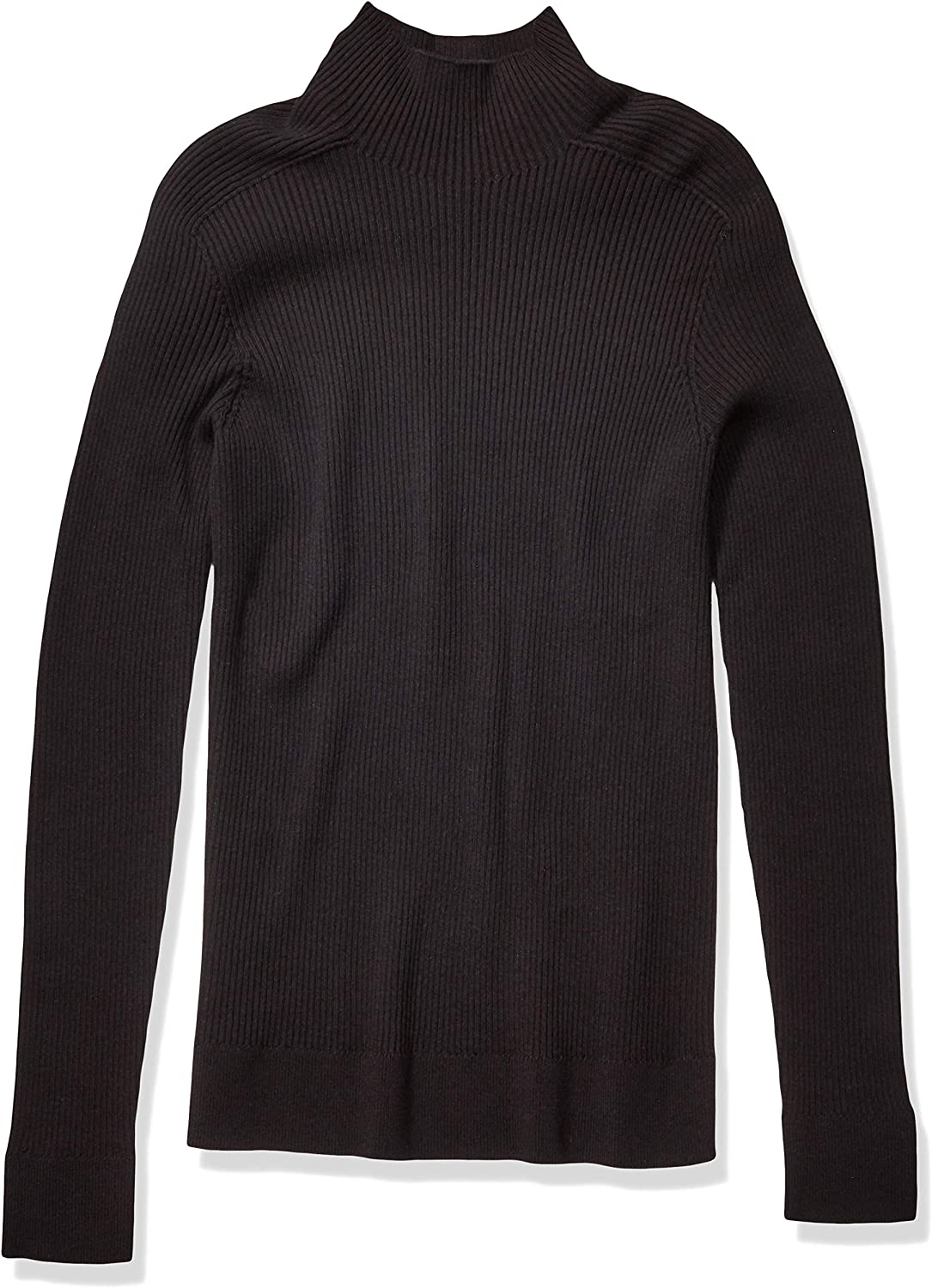 The Knitwear Lab Men's 3D Turtleneck Ribbed Sweater