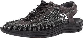 KEEN Men's Uneek Leather-m Sandal, Magnet/Black Sc, 9.5 M US
