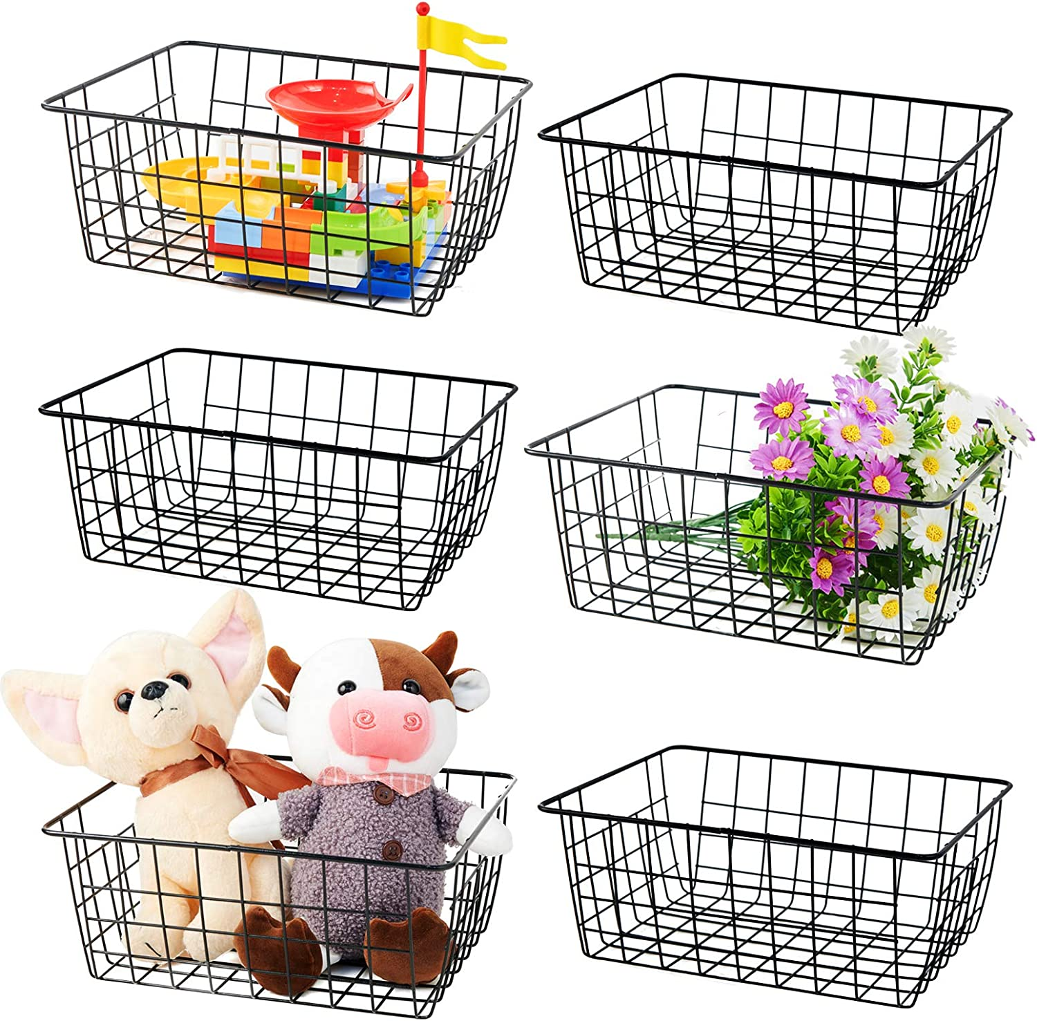 Metal Baskets IRONMEOW Wire Daily bargain sale for Organizing Ranking TOP6 Storage Pant