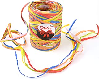 Star Quality Paper Twine 85 Yards | Matte Paper Birthday Ribbon for Gift Wrap, Wine Bottle Decoration|3/16 Inch Width Raffia Paper Yarn for Birthday, Christmas, Craft and Party