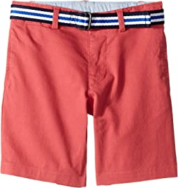 Slim Fit Belted Stretch Shorts (Little Kids)