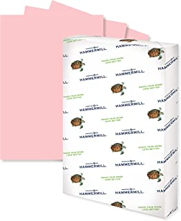 Hammermill Colored Paper, 20 lb Pink Printer Paper, 11 x 17-1 Ream (500 Sheets) - Made in the USA, Pastel Paper, 102368R