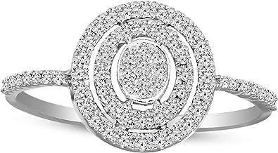 100% Real Diamond Ring Luxury Halo Diamond Ring 1/4 cttw IGI Certified Lab Grown Diamond Engagement Rings For Women Lab Created Diamond Rings SI-GH Quality 10K Real Diamond Band Ring