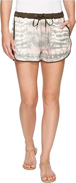 Blank NYC - Novelty Detailed Drawstring Shorts in Green Beaner