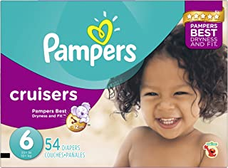 Pampers Cruisers Disposable Diapers Size 6, 54 Count, SUPER