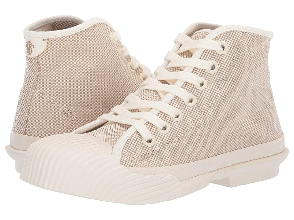 Tory Burch Buddy High Top Sneaker (Off-White/Off-White) Women