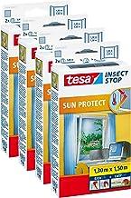 Tesa Vliegengaas voor ramen, inclusief zonwering, beste tesa kwaliteit, 1,3 m x 1,5 m