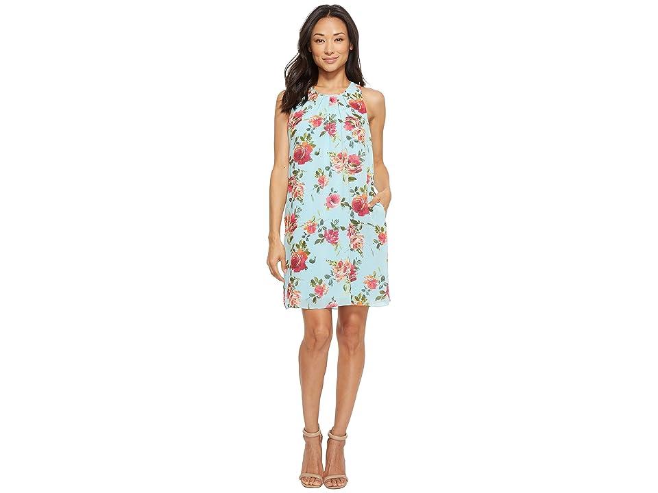 KUT from the Kloth Sela Floral Dress (Sky Blue) Women