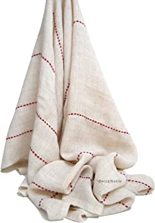 Manta lineas granate, manta para sofá, manta foulard de BeccaTextile.