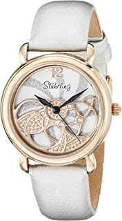 Stuhrling Original Women's 737.03 Vogue Pirouette Analog Display Swiss Quartz White Watch