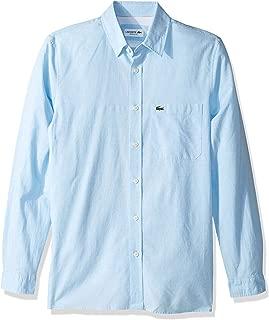 Lacoste L/S - Collar para Hombre de algodón y Lino, Liso, Informal, Ajuste Regular