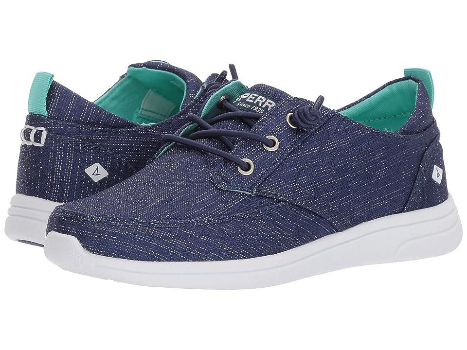 Sperry Kids Baycoast (Little Kid/Big Kid) (Navy/Sparkle) Girls Shoes