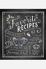 Deluxe Recipe Binder - Favorite Recipes (Chalkboard) Hardcover