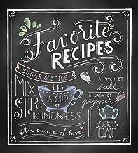 Deluxe Recipe Binder – Favorite Recipes (Chalkboard)