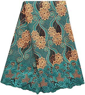 Best teal green lace fabric Reviews