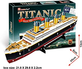 Lelifang kids toys 3d puzzles T4012H Titanic Ship Model Standard Edition