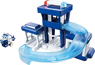 Super Wings -  Paul's Police Station Toy Playset |Includes Paul Figure | Pop 'n Transform Scale