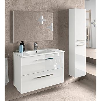 Conjunto de Muebles para baño Aloha, Cuerpo en Blanco Mate/Frentes ...