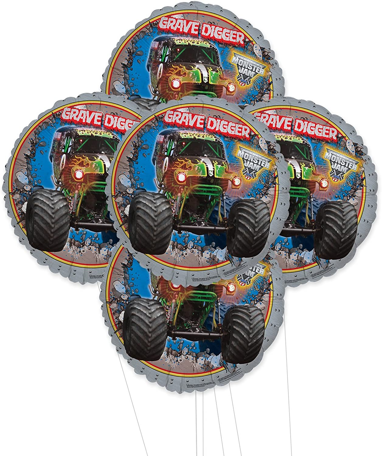 BirthdayExpress Monster Jam 5-PIece Max 52% OFF Kit Multi-colo Balloon Free Shipping New Foil