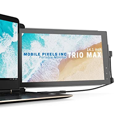 Mobile Pixels Trio Max Portable Monitor for Laptops, 14'' Full HD IPS Screen, USB C/USB A Dual or Triple Displays,Windows/OS/Android/Nintendo Switch