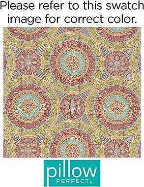 """Pillow Perfect Outdoor/Indoor Delancey Jubilee Floor Pillow, 25"""" x 25"""""""