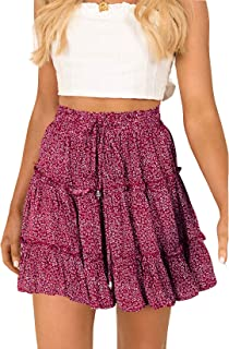 Bktops Ruffled Mini Skirt