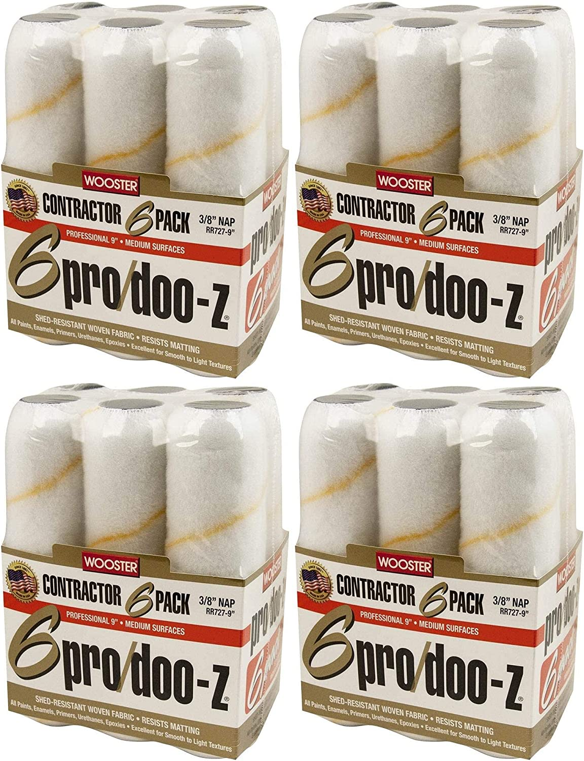 Wooster Brush RR727-9 Pro Doo-Z Weekly update Nap 8-Inch 6-Pack Pa 3 Rollers Sale SALE% OFF