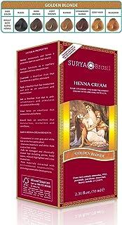 Surya Henna, Brasil Cream, Hair Coloring & Hair Treatment, Golden Blonde, 2.31 fl oz (70 ml)(pack of 2)
