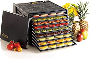 Excalibur 9-Tray Electric Food Temperature Settings and 26-hour Timer Automatic Shut Off Includes Guide to Dehydration, Black