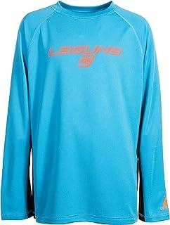 تي شيرت LAGUNA للأولاد برقبة مستديرة وأكمام طويلة فضفاض وواسع وواسع من Rashguard Swim Sun، UPF 50+