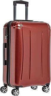 comprar comparacion AmazonBasics - Maleta rígida «hardside» Oxford, con ruedas - 78 cm, Rojo