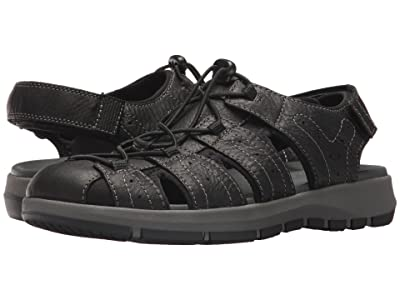 Clarks Brixby Cove (Black Leather) Men