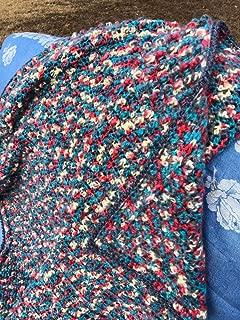 Handmade Bulky Mohair-like Afghan Blanket Throw Lapghan