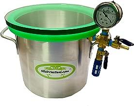 3 Gallon Slickwoodvac Aluminum Vacuum Chamber Used for Stabilizing Wood, Degassing Resins, Silicone and Epoxies.