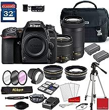 Nikon D7500 DSLR Camera with AF-P 18-55mm VR Lens & 70-300mm ED Lens + Deluxe Accessory Kit (2 Battery Bundle)