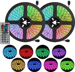 DLIANG RGB LED Strip Light Kit 65.6ft Flexible Tape Lights 5050 SMD RGB 600 LEDs Non Waterproof...
