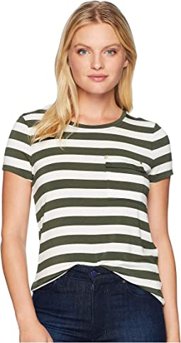 Petite Striped Jersey Pocket T-Shirt