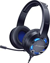 PHENOM LED Comfortable Noise-Isolating Gaming Headset with Microphone Immersive Audio and Volume Control | Works with Xbox...