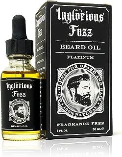 Inglorious Fuzz Beard Oil By Inglorious Fuzz - Beard Growth - Beard Hair Skin Conditioner - Fragrance Free - Better Beards for Better Men