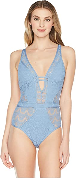 BECCA by Rebecca Virtue Color Play Plunge One-Piece