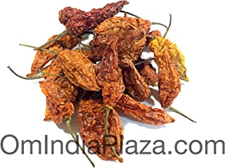 Dried Whole Ghost Chile (Bhut Jolokia) 18.16 Gram (15-20 Pods)