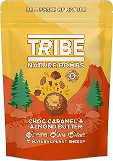 TRIBE Protein Balls - Choc Caramel + Almond Butter Sharing Bag - Vegan, Gluten & Dairy Free, Protein Nature Bombs (7 x 100g)