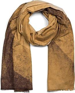 styleBREAKER Damen weicher Schal mit geometrischem Verlauf Muster und Fransen, Winter, Stola 01017115