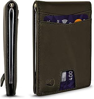 Sponsored Ad - RFID Blocking Slim Minimalist ID Inside Front Pocket Wallet, Money Clip, 9 Slots, Leather