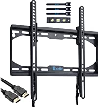 RENTLIV TV Wall Mount Tilting Bracket Low Profile for Most 23-55 inch TVs, up to VESA 400 x 400 mm and 110 LBS. Weight Capacity, fits 16