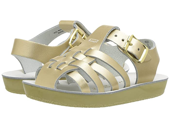 Salt Water Sandal by Hoy Shoes  Sun-San - Sailors (Infant/Toddler) (Gold) Girls Shoes