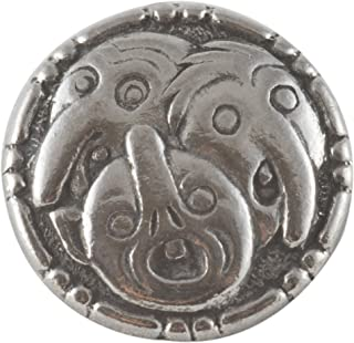 Trehodet Troll - Three Trolls Pewter Button. 18mm - 11/16