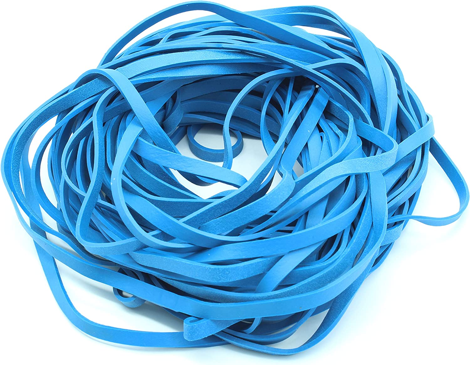 Garbage Trash Can Rubber Bands Blue 17