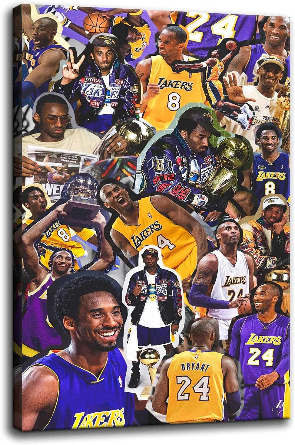 Dealing full price reduction Kobe Bryant Posters Canvas Bargain Wall Painting Championshi the Art Win