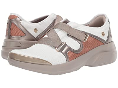 Bzees Offbeat (White/Pewter Active Mesh) Women